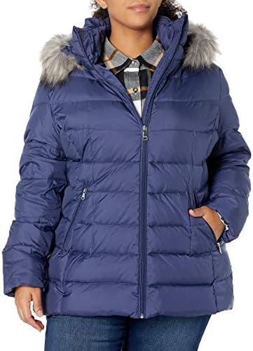Calvin Klein Women s Plus Sized Zip Front Down Coat TBU 1X product image