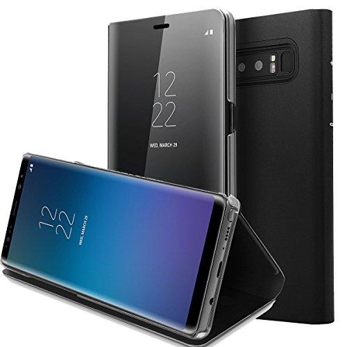 AICase Cover per Galaxy Note 8 Clear View Standing Cover Custodia Protettiva con Apertura a Libro e Funzione Supporto per Samsung Galaxy Note 8(Nero)