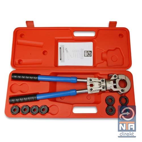 Presszange V-Kontur 12-22mm + G-Kontur 16-32mm Set Presswerkzeug Pressbacke