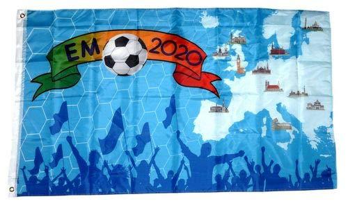 Fahne/Flagge EM 2020 Europa 90 x 150 cm