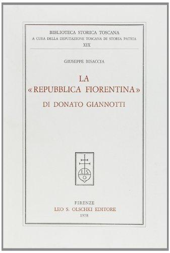 La Repubblica Fiorentina di Donato Giannotti