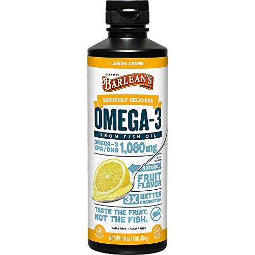Barlean's Omega Swirl Fish Oil Lemon Zest, 16-Ounce Bottle-Packing May Vary