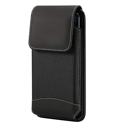 LISUONG MCDC Caja de Tela de la Cintura Colgante Universal Oxford para Galaxy A8 / S9 / S7 / S6 Edge y Otros 4.7-5.Teléfonos móviles de 2 Pulgadas, con mosquetón (Negro) (Color : Black)