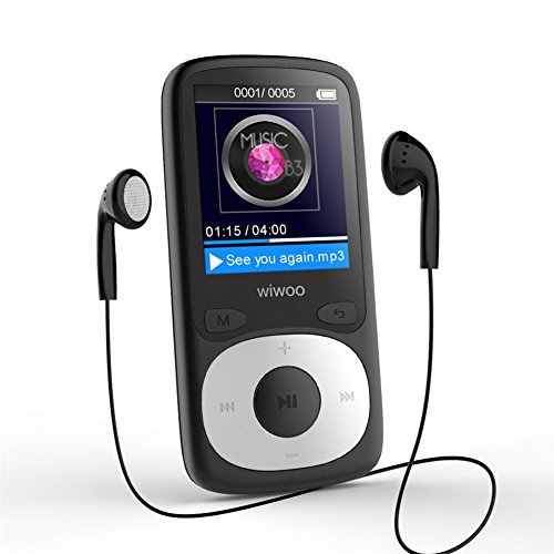 16GB MP3 Player with FM Radio, Lossless Sound Music Player with HD Headphone and Adjustable Sport Armband, Supports Up to 64GB (Black)