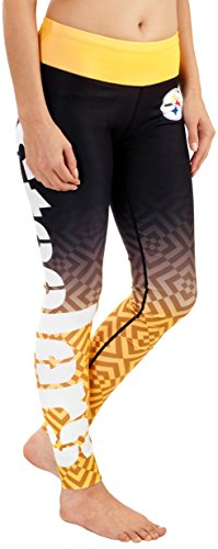 Pittsburgh Steelers Gradient Print Legging - Womens Medium
