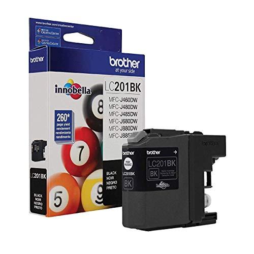 Brother Genuine Standard Yield Black Ink Cartridge, LC201BK,...