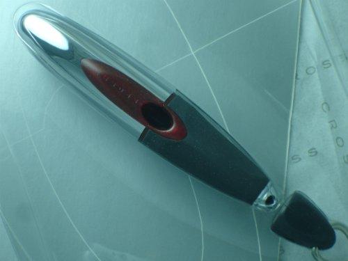 Cruz de iones de metal negro tinta de gel bolígrafo, tinta negra, cromado/negro...