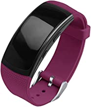 OenFoto Compatible Gear Fit2 Pro/Fit2 Band, Replacement Silicone Accessories Strap Samsung Gear Fit2 Pro SM-R365/Gear Fit2 SM-R360 Smartwatch-New Wine Red