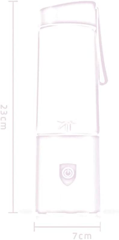 BLENDER RDJSHOP Licuadora Personal Exprimidor portátil Taza Batidora eléctrica Mezclador de Jugo Recargable 300 ml (Color : Pink) Pink