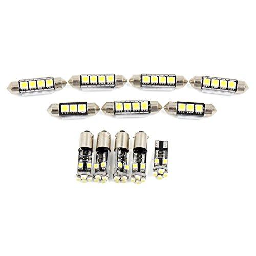 12pcs Phares Voiture Blanche dôme Carte Lecture LED éclairage intérieur pour Audi A3 / S3 (8P) 2006-2011 Canbus