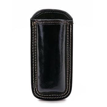 Guard Dog Security Hard Premium Leather Holster for Flashlights and Stun Guns  Black