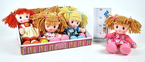 Kidz Corner- Bambola di pezza Lucy con Capelli di Lana, 433677