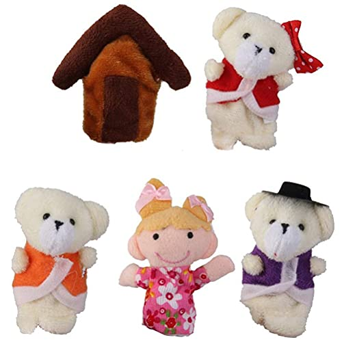 Peluche 5 Unids/Set De Muñeco De Hadas De Dibujos Animados, Marioneta De Dedo, Marioneta De Mano De Animales, Rompecabezas De Historia Para Niños, Juguete De Marioneta De Dedo