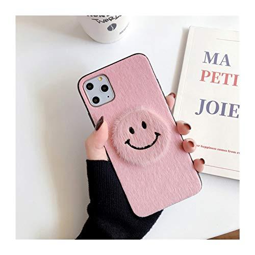 para iPhone 6 7 8 Plus 11 PROMAX Mobile TELÉFONO COMPAJO Femenino XSMAXR Simple SONRENSO Cara Mink PELUMINACIÓN Personalidad Creativa (Color : Pink, Material : For iphone7plus)