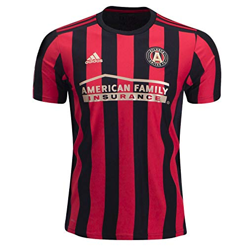 adidas Atlanta United Fc Adult Home Replica Soccer Jersey Black/Red L
