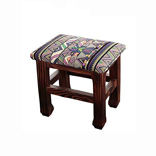 Huangwanru Asiento otomana Hogar y jardín Muebles Tocador Taburete Reposapiés Chino Práctico y cómodo para Dormitorio Sala Decoración (Color : Figure 2, Size : 26 * 20 * 25)
