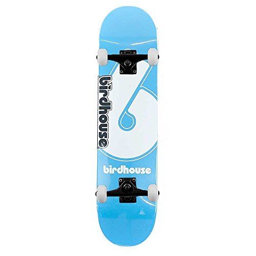 Birdhouse Skateboards logo Deck Giant B skateboard completo blu 19,7cm