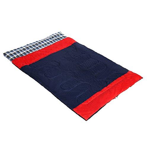 Xin.S Enveloppe Des Sacs De Couchage Surdimensionnés. Grande Saison 4 Et Temps Frais Froid Et Chaud Sacs Compressés. (Bleu Et Orange),Red-(180+30)*150cm