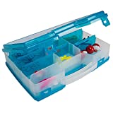 Plano Lets Fish Satchel Tackle Box, Clear/Blue, Includes 70 Piece Starter Tackle Kit, one Size