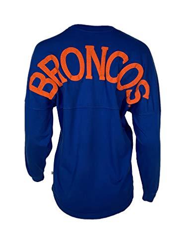 Official NCAA Boise State Broncos BSU Buster Bronco Women's Spirit Wear Jersey T-Shirt,Small,Royal Blue-35bsu-1