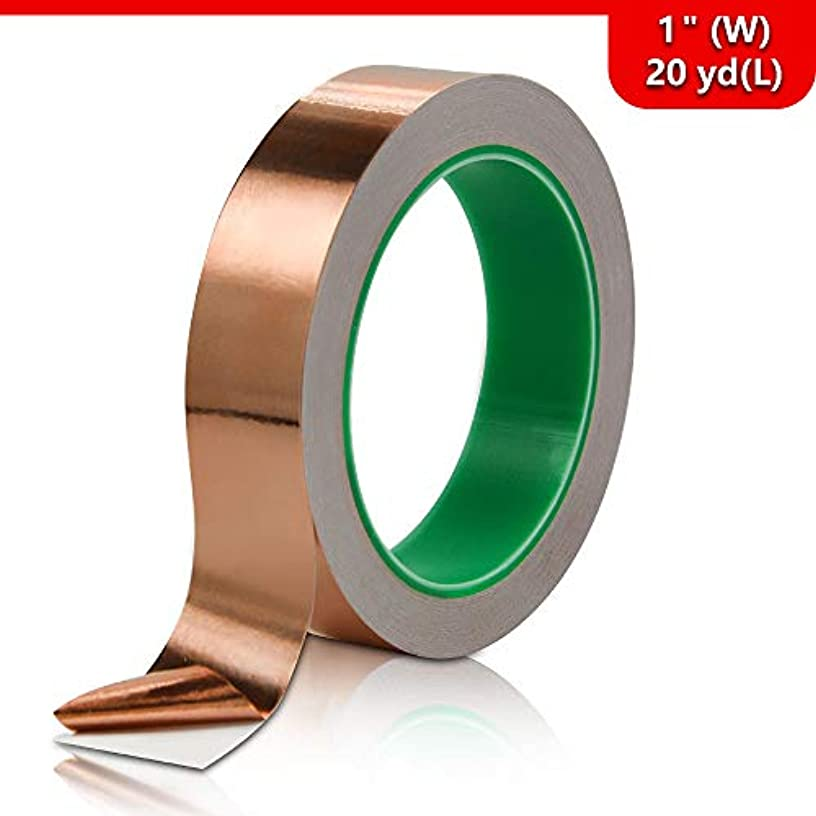 Copper Foil Tape with Double-Sided Conductive, for Guitar, EMI Shielding, Stained Glass, Soldering, Electrical Repairs, Paper Circuits, Grounding and Crafts