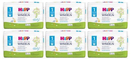 Hipp Babysanft Windeln Newborn Carry Größe 1, 6x24 Stk.(144 Stück)