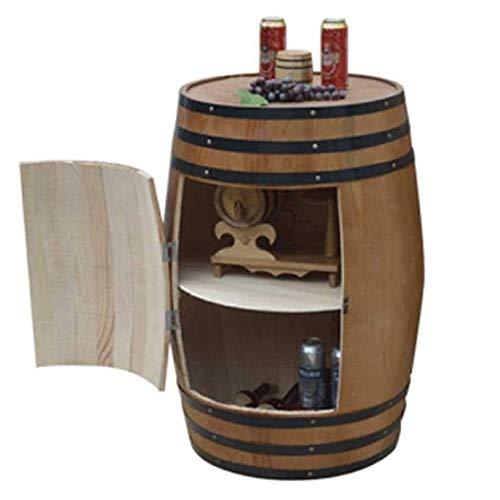 XWX Eiche Weinfass, Fass Gestell Aus Holz Brown Schrank Mit Bar Bottle Restaurant Dekoration Keller Kabine Lagerung Und Glasablage (Size : 70cm)