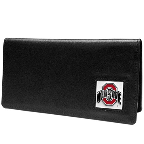 NCAA Siskiyou Sports Fan Shop Ohio State Buckeyes Leather Checkbook Cover One Size Black