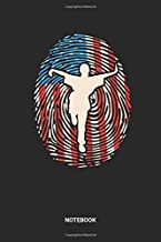 Notebook: Dotted Lined USA Kung Fu Themed Notebook (6x9 inches) ideal as a Red White Blue fingerprint American Flag Journal. Perfect as a Shaolin ... Martial Arts lover. Great gift for Men&Women