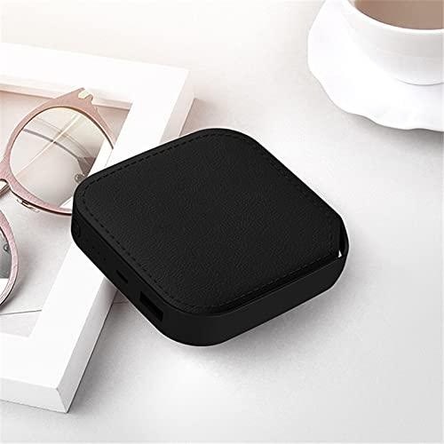 GLNuoke Power Bank Mini Power Bank 10000mAh Cargador portátil Powerbank Batería externa Poverbank 10000mAh para Xiaomi Mi iPhone 12 Power Bank (color negro con cordón)
