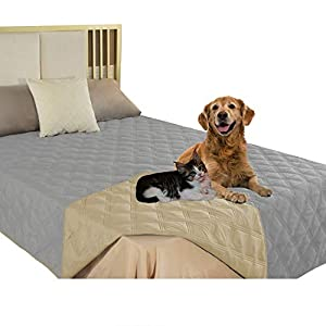 SUNNYTEX Waterproof & Reversible Dog Bed Cover Pet Blanket Sofa, Couch Cover Mattress Protector Furniture Protector for Dog, Pet, Cat