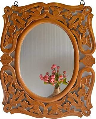 Decorative Mirror Brown (Oval Shaped)