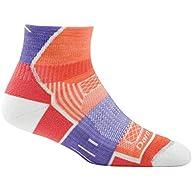 Side Profile View of Women's Darn Tough BPM 1/4 Light Cushion Sock