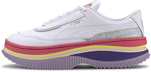 Puma - Womens Deva 90'S Pop Shoes, Size: 7 B(M) US, Color: Puma White/Bubblegum