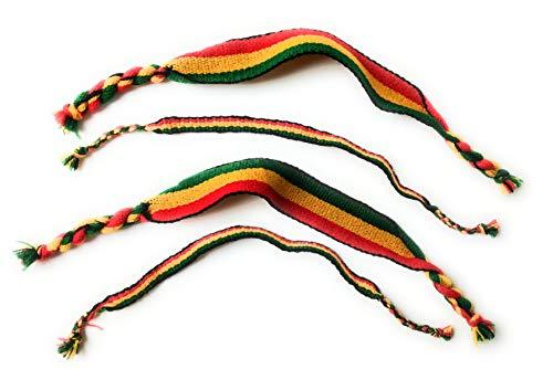 Wigwam Medaille Keying 3Stück Rasta Bob Marley Tuch gewebt Armband Freundschaft Band Set