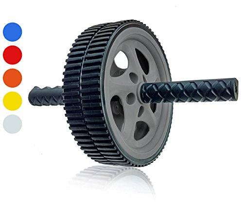 Wacces AB Roller Wheel Power - Exercise & Fitness Wheel With Easy Grip Handles Equipment For Core...