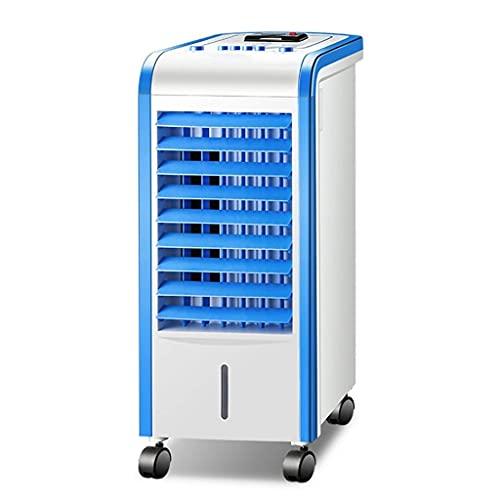 QIQIZHANG Enfriador de Aire, Acondicionador de Aire, móvil, sin Manguera 4 en 1 Ventilador de refrigerador de Aire frío portátil, humidificación, Tanque de Agua 3L para hogar y Oficina, Azul