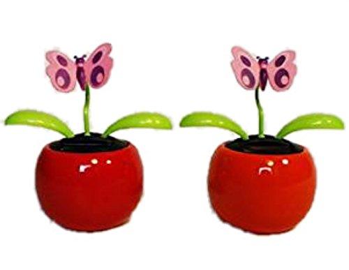 HAAC lot de 2 fleurs solaires flip-flap motif papillon
