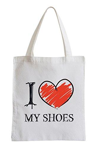 I Love My Shoes Fun Sac de Jute