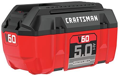 CRAFTSMAN V60 Battery, 5.0 Ah Lithium Ion (CMCB6050)