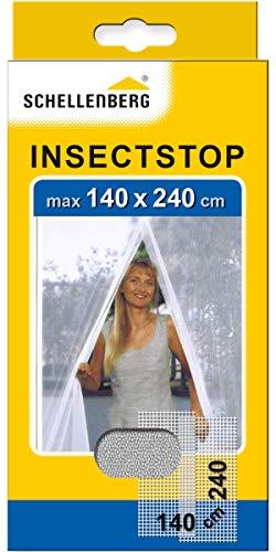 Schellenberg 20503 Moustiquaire pour portes contre insectes/moustiques 140 x 240 cm Blanc