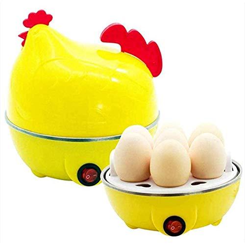 Eierkoker met kuippatroon, eenvoudige eierkoker voor huishoudelijk gebruik, elektrische eierkoker, enkellaags 7 eiercapaciteit, multifunctionele eiermaker Rapid, 220V 350W