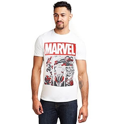 Marvel Heroes Comics T-Shirt, Bianco (White White), (Taglia Produttore: Medium) Uomo