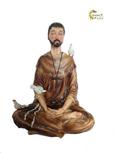 Imagem Estátua Religioso São Francisco De Assis 20 cm