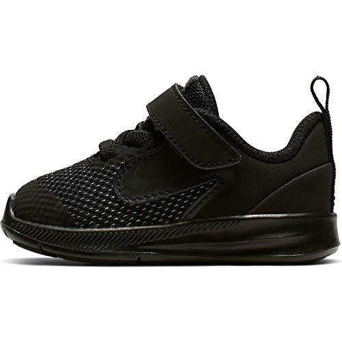 Nike Baby Kids Downshifter 9 Velcro Running Shoe, Black/Black-Anthracite, 5C Child US Toddler