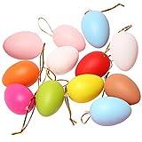 BESLIME Uova di Pasqua Riempite, 12Uova di Pasqua Colorate da Dipingere e Decorare - Ideali per Caccia alle Uova di Pasqua - Perfette per Fai da Te, Decorazione per la Casa, Regali e Altro
