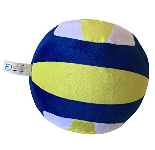 Balón de Voleibol Super Soft Peluche - Pelota Recreativa de Interior para Niños Niñas Jóvenes y Adultos - Tamaño aproximado: 20cm de Diámetro.