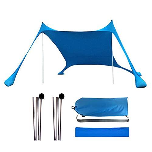 Hangarone Tienda de campaña ligera y portátil impermeable con bolsa de arena anti rayos UV, gran toldo para pesca al aire libre, camping