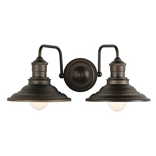 allen + roth Hainsbrook 2 Light Aged Bronze Bathroom Vanity Light