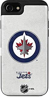 Skinit Wallet Phone Case Compatible with iPhone SE - Officially Licensed NHL Winnipeg Jets Distressed Design - 2 Card Wall...